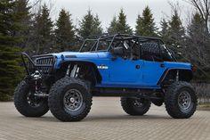 "My big blue Jeep, ""Blue Crush"". :)"