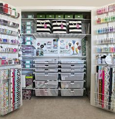 Most Awesome Craft Closet Organization I Have Ever Seen.