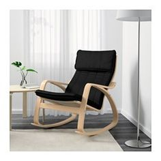 IKEA - POÄNG, Rocking-chair, Ransta black, , The cover is easy to keep clean as it is removable and can be machine washed.