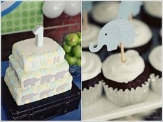 Another adorable (though a bit fancy) elephant birthday theme