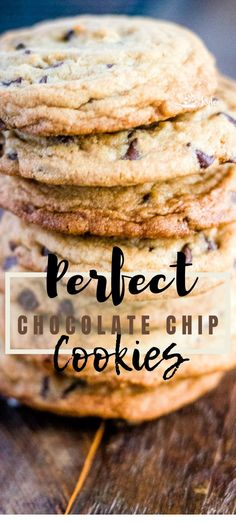 Perfect chocolate chip cookies are the go-to, bees-knees, classic kind of cookie. Crispy, with a little chew, bursting with chocolate chips. Heaven.   #chocolatechip #cookies #baking #recipe #fromscratch Perfect Chocolate Chip Cookies, Kinds Of Cookies, Sugar And Spice, Spices, Spice