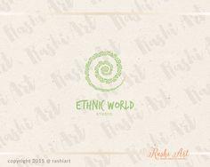 Premade ethnic logo for sale on Etsy.