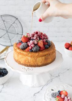 Cheesecake mit Beeren und Irish Cream Liqueur