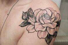 Gardenia and Cicada shoulder piece by Blayne Bius at Live Free Tattoo: Atlanta GA Japanese tattoo sleeve btctrader1.weebly.com