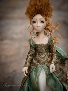 Roxane. Handmade textile doll. One of a kind by RomanticWonders, €350.00