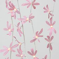 CHAIN BATTERY FOLIAGE PINK Divine soft pink garland.  Length - 2.2m total of which 1.9m is illuminated  Power source - 3 x AA batteries (not included)