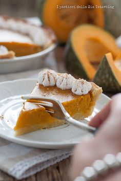 pumkin pie, a nice Italian interpretation of this warm and autumnal cake