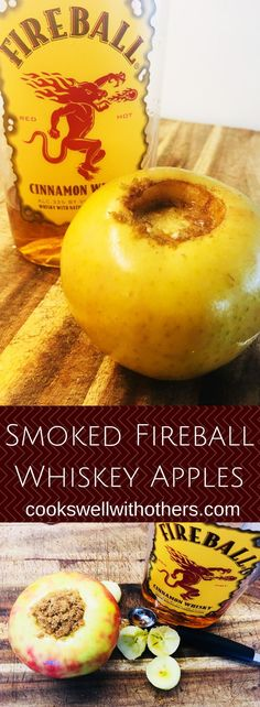 Smoked Fireball Whiskey Apples – Cooks Well With Others – Pork Recipes Traeger Recipes, Rib Recipes, Grilling Recipes, Recipies, Fireball Recipes, Whiskey Recipes, Fireball Whiskey, Smoked Whiskey, Thanksgiving Drinks
