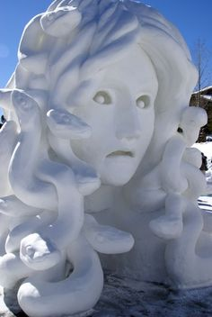 2011 Jan - Breckenridge Snow Sculpture Championship - Medusa
