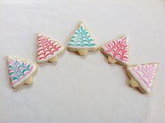 Christmas Tree mini sugar cookies
