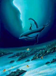 Ocean Children by Wyland - Dolphins in the Ocean