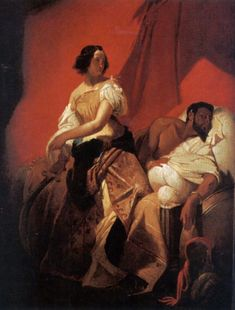 Judith and Holofernes, Emile Jean Horace Vernet.