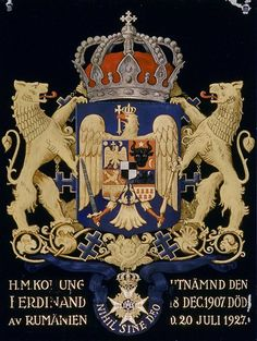 """"""" 1936 Archduke Friedrich of Austria died, a Knight of the Seraphim. Ferdinand, Michael I Of Romania, Elisabeth I, Peles Castle, Transylvania Romania, Rare Stamps, Family Crest, Coat Of Arms, All The Colors"""