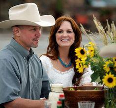 Home on the range: Ree Drummond and her cowboy husband, Ladd....aka Marlboro Man