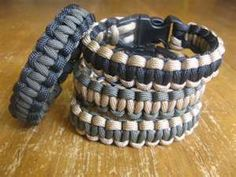 Paracord Survival braclets. Made by American Veterans and they unravel if you ever are in need of survival rope!