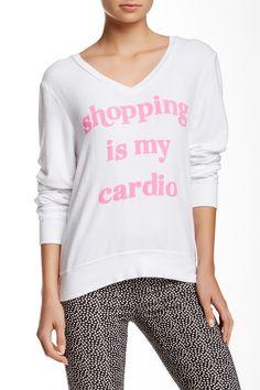 WILDFOX   Cardio Shopping V-Neck Sweatshirt   Nordstrom Rack
