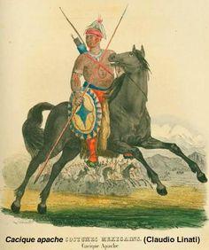 Cacique apache (Claudio Linati)