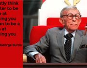 """""""I honestly think it is better to be a failure at something you love than to be a success at something you hate"""" -George Burns Career Quotes, Work Quotes, Great Quotes, Inspirational Poems, Motivational Quotes, Inspiring Quotes, Quotable Quotes, Quotes Dream, Comedian Quotes"""