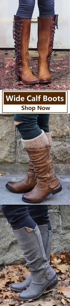 UP TO 72% OFF&Free Shipping!SHOP NOW>> Find Wide Calf Boots,Knee Boots,Tall Boots,High Boots Here! Wide Calf Boots, Tall Boots, High Boots, Knee Boots, Sneaker Heels, Loafer Shoes, Mens Shoes Boots, Boho Shoes, Cute Shoes