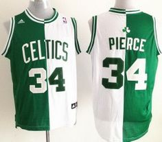 8e7f91fc0 Boston Celtics 34 Paul Pierce White Green Split Swingman NBA Jerseys Cheap  Nba Jerseys