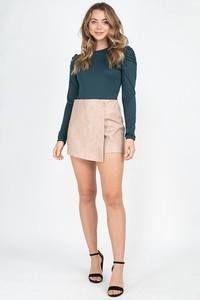 Zipper Trim Sheeny Mini Skirt | KjSelections Dress Making, Short Dresses, Mini Skirts, Zipper, Model, Pink, Color, Fashion, Short Gowns
