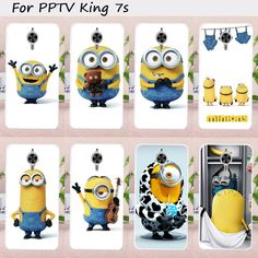 Mobile Phone Cases for PPTV King 7 Cover King 7S PP6000 6.0 inch Case Soft TPU Yellow Lovely Minions DIY Painted Bag Skin Shell #Affiliate