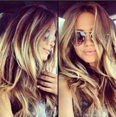 Khloe Kardashian ombré hair