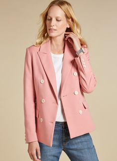 Beautifully designed Emin Pink Jacket in Pink. Shop the Baukjen womenswear collection online now for chic yet flattering everyday style. Pink Jacket, Everyday Fashion, Women Wear, Blush, Chic, Winter, Jackets, Shopping, Beauty