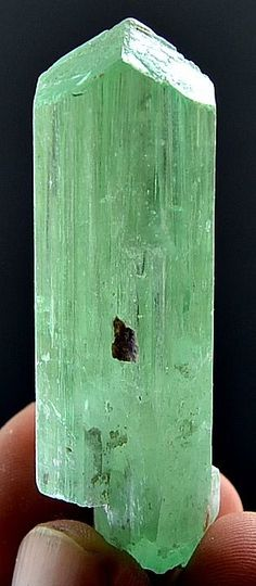 38 Grams Top Quality V Shape Green Color Hiddanite Kunzite Crystal From AFGH