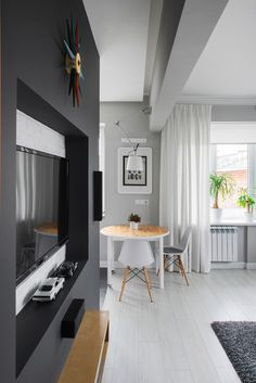 L Shaped Living Room Layout . L Shaped Living Room Layout . L Shaped Living Room Dining Room Furniture Layout 6 Small Apartment Design, Small Apartments, Small Spaces, Retro Apartment, L Shaped Living Room Layout, Best Home Interior Design, Interior Ideas, Piece A Vivre, Minimalist Bedroom