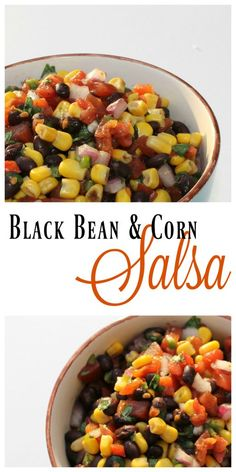 Black Bean & Corn Salsa Recipe - a perfect topping  for your tacos and burritos! [ad]