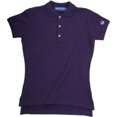 Ladies Plain Polo Shirt - Purple £65.00- Complete with lock stitched Polistas branded buttons and our traditional classic feminine fit, this 100% cotton pique twill weave polo is the epitome of classic polo style. The Plain Polo is casual enough for the house and stylish enough for the polo field; whether your competing or cheering on your favourite team.