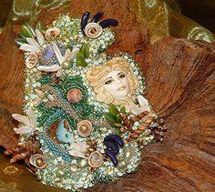 Fairy Glen Raised Texture Beaded Art by MixedMediaArtistry on Etsy, $750.00 Tamura Scott