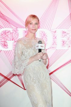 Actress Cate Blanchett attends SK-II promotional event on July 22, 2014 in Shanghai, China.