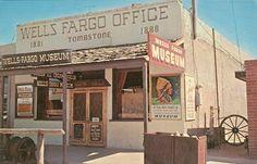 Wells Fargo Stagecoach Office Tombstone by StuckyEstateSale Wyatt Earp Tombstone, Tombstone Arizona, Wells Fargo Stagecoach, American Legend, Early American, American History, Real Cowboys, Arizona Travel, Old West