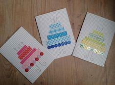 Washi Tape Cards, Washi Tape Diy, Homemade Birthday Cards, Homemade Cards, Birthday Card Drawing, Karten Diy, Button Cards, Tape Crafts, Diy Cards