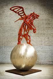 richard texier sculpture bear angel art artist french modern