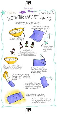 Check out How to make your true love an aromatherapy rice bag