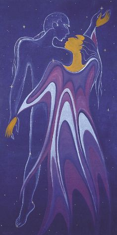 """""""Dream Warrior"""" -- by Maxine Noel [signs her paintings in her Sioux name, Ioyan Mani]; Manitoba province, Canada"""