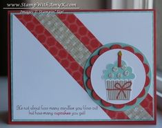 Create a Cupcake with Washi Tape by amyk3868 - Cards and Paper Crafts at Splitcoaststampers