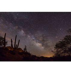 """""""Milky Way over the Arizona desert. Photo taken by @arizphotodude"""