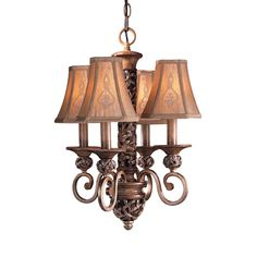 Minka Lavery 1554-477 4-Light Jessica McClintock Home® Salon Grand™ Mini Chandelier