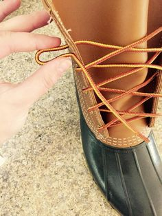 How to tie your new L.L.Bean Bean Boots!