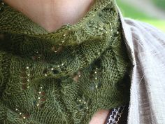 100% Qiviut Pattern idea: Abstract Leaves Cowl by Deb Mulder - free pattern available on Ravelry, uses 125 yards of fingering weight yarn