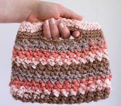 Striped Crochet Bag