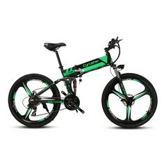 Cyrusher XF700 Unisex Folding Electric Bike Mountain Full Suspension 250 Watt 36V 21 Speeds Ebike for Outdoor Recreation Bicycle #Affiliate