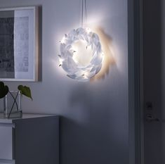 IKEA - STRÅLA, LED wreath, , Easy to place anywhere as it is battery operated and does not need to be connected to the main supply.The LED light bulb consumes up to At Home Furniture Store, Modern Home Furniture, Ikea Xmas, Led, Liatorp, Christmas Inspiration, Home Lighting, Incandescent Bulbs, Products