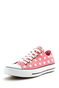 pink polka dot converse...