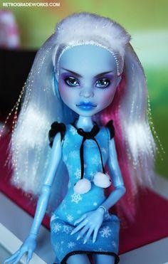 Custom Monster High Abbey Repaint 'Mirra' by Retrograde Works, LLC, via Flickr