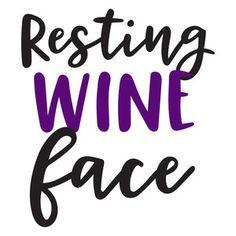 Silhouette Design Store: resting wine face